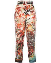 DSquared² Printed Silk Pant - Multicolour