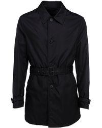 Prada Cotton Trench Coat - Black