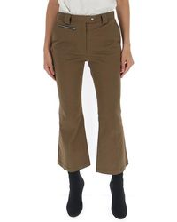 Proenza Schouler Cropped Flared Jean - Brown