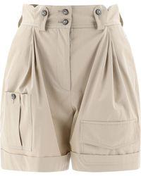 Dolce & Gabbana High-waisted Cargo Shorts - Natural
