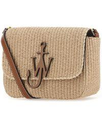 JW Anderson Braided Midi Anchor Shoulder Bag - Natural