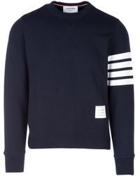 Thom Browne 4-bar Stripe Knit Jumper - Blue