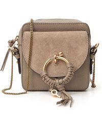 See By Chloé Joan Leather & Suede Camera Bag - Grey
