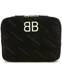 Balenciaga - Bb Reporter Xs Quilted Velvet Bag - Lyst