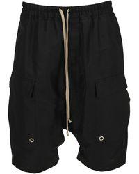 Rick Owens Drawstring Flap Pockets Shorts - Black