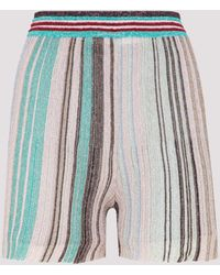 Missoni Striped Knitted Shorts - Blue