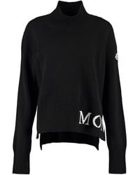 Moncler Wool And Cachemire Turtleneck Pullover - Black