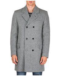 Dolce & Gabbana Men's Double Breasted Coat Overcoat - Grey
