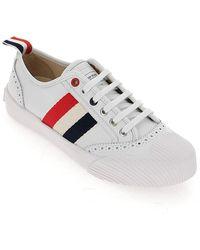 Thom Browne Rwb Stripe Lace-up Trainers - White
