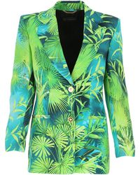 Versace Jungle Print Blazer - Green