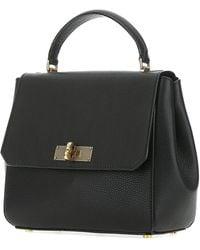 Bally Fold-over Top Handle Handbag - Black
