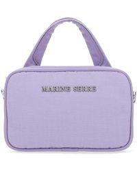 Marine Serre Logo Plaque Phone Case - Purple