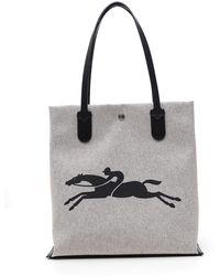 Longchamp Logo Tote Bag - Natural