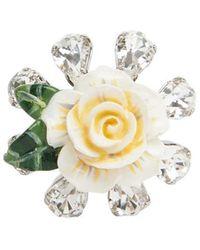 Dolce & Gabbana Rose Ring - Metallic