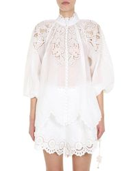 Zimmermann Carnaby Scallop Blouse - White