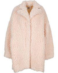 MM6 by Maison Martin Margiela Faux Shearling Coat - Pink