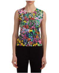 Boutique Moschino Moschino Floral Print Sleeveless Top - Multicolour