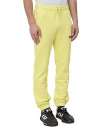 BBCICECREAM Logo Patch Sweatpants - Yellow