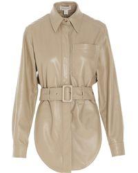 Matériel Belted Long-sleeved Shirt - Natural