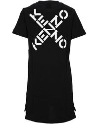 KENZO Sport Little X T-shirt Dress - Black