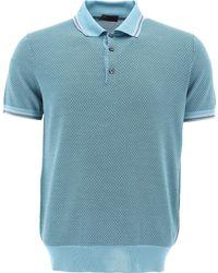 Prada Jacquard Polo Shirt - Blue
