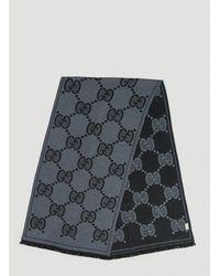 Gucci GG Jacquard Scarf - Grey