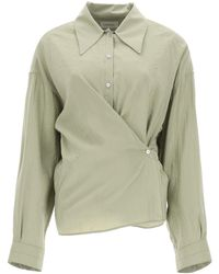 Lemaire Twisted Shirt - Green