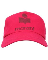 Isabel Marant Tyron Cotton Baseball Hat With Logo - Pink