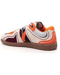 Ganni Sporty Mix Retro Trainers - Red
