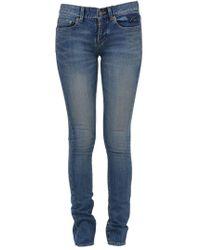 Saint Laurent - Low Waist Skinny Jeans - Lyst