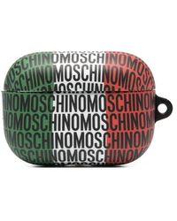 Moschino Allover Logo Print Airpods Pro Case - Multicolor