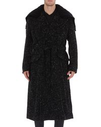 Dolce & Gabbana Belted Double-breasted Coat - Grey