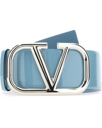 Valentino Vlogo Buckle Belt - Blue