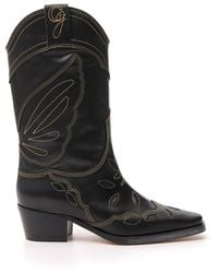Ganni High Texas Western Boots - Black