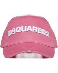 DSquared² Logo Cotton Baseball Cap - Pink