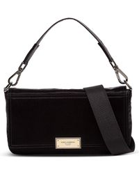 Dolce & Gabbana Logo Plaque Crossbody Bag - Black