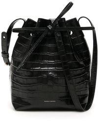 Mansur Gavriel Mini Bucket Bag - Black