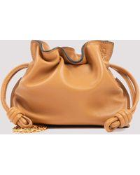 Loewe Flamenco Nano Clutch Bag - Brown