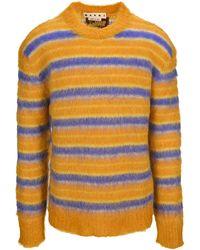 Marni Striped Crewneck Knit Jumper - Multicolour
