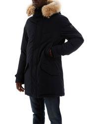 Woolrich Polar Parka Fur Hooded Coat - Blue