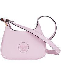 Versace Medusa Logo Print Shoulder Bag - Pink