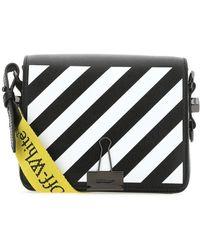 Off-White c/o Virgil Abloh Diag Flap Shoulder Bag - Black