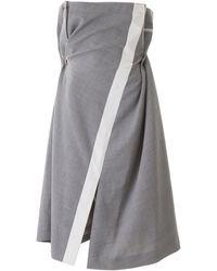 Sacai Draped Dress - Gray