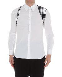 Alexander McQueen Harness Detail Button Up Shirt - White