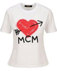 MCM Spray Logo T-shirt - White