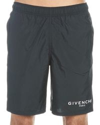 Givenchy Paris Long Swim Shorts - Black