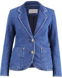 Tory Burch Denim Blazer - Blue