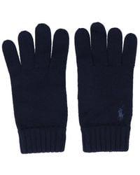 Polo Ralph Lauren Logo Embroidered Gloves - Blue