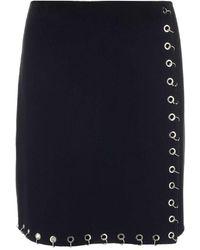 P.A.R.O.S.H. Hoop-trim A-line Skirt - Black