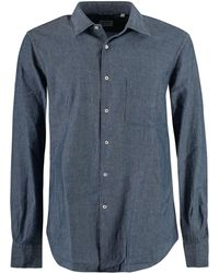 Aspesi Chest-pocket Chambray Shirt - Blue